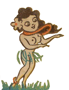 Hula Girl Drawing